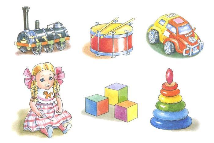 Картинки игрушки для детей в детском саду и в младшей школе