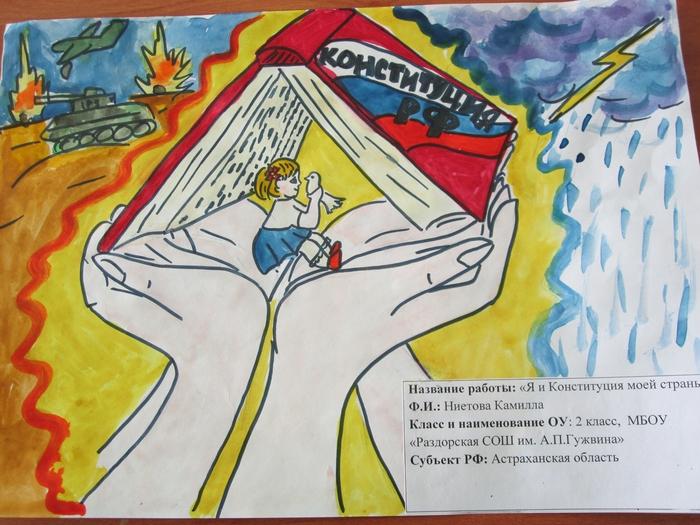 Рисунок к дню конституции 4 класс, рисунки клетку