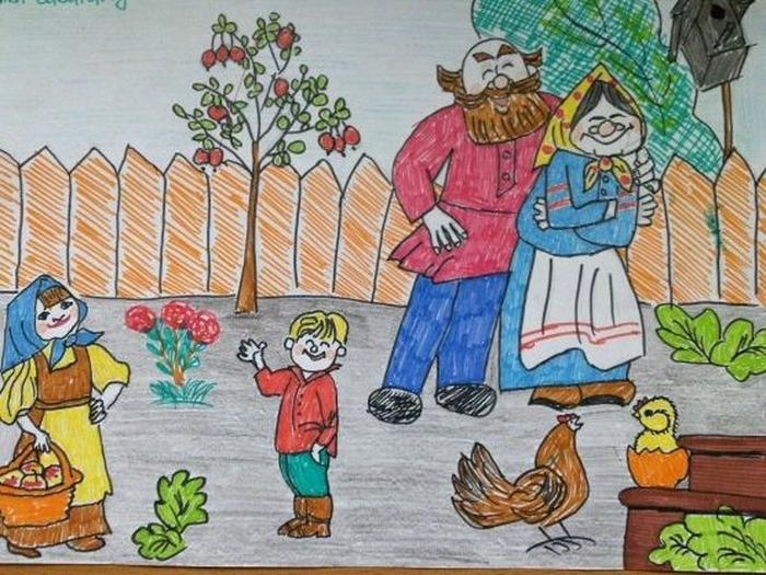 Рисунок к дню пожилого человека 1 класс, открытки новым годом