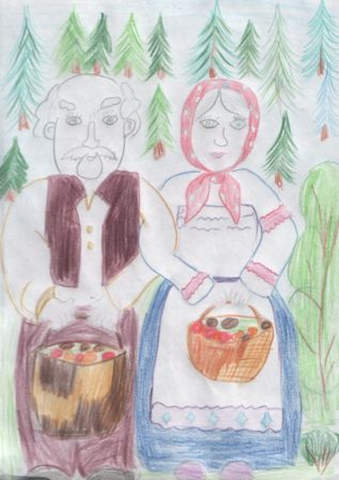 Рисунок ко дню пожилых людей детский