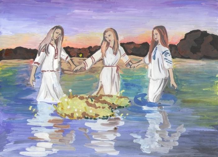 день ивана купала рисунок ксении