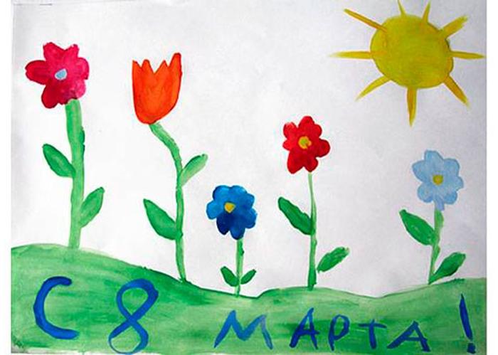 Смешные, рисунок к 8 марта своими руками нарисовать в садик