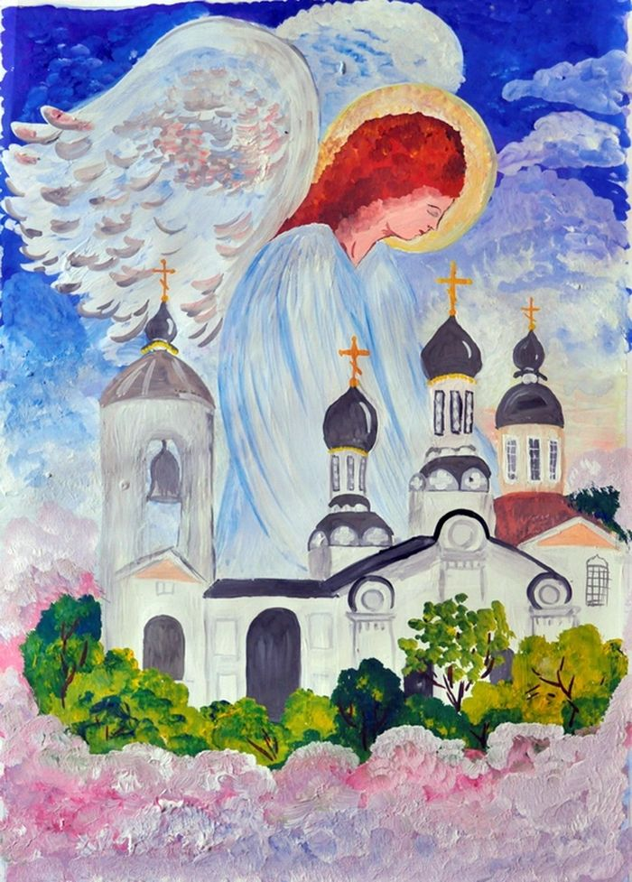 Православные детские рисунки