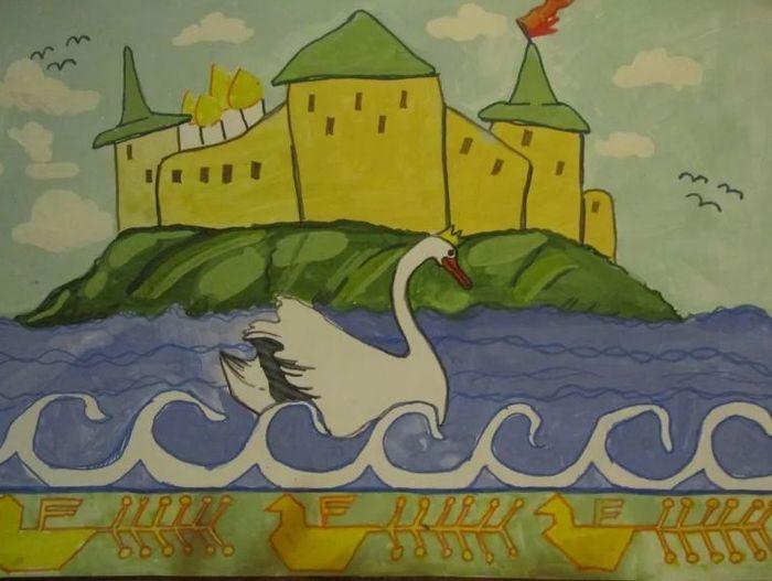 Сказка о царе салтане картинки к сказке для рисования праздник вам