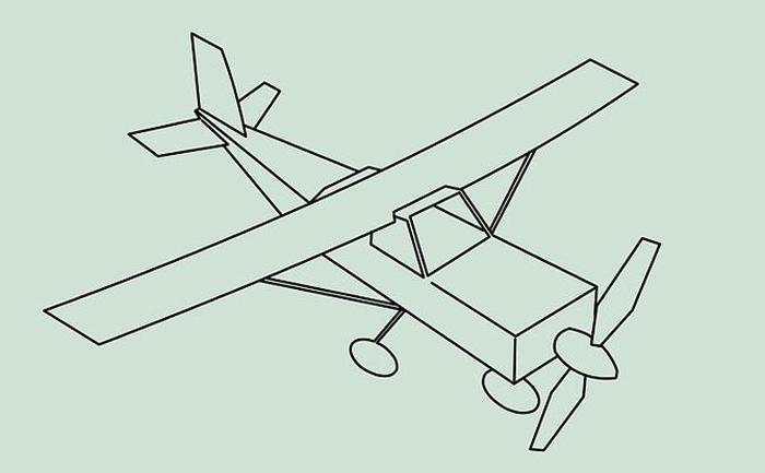 Картинка самолета для детей карандашом