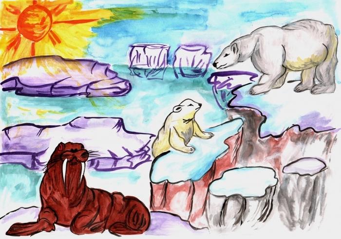 Рисунки про арктику