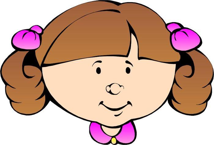 cartoon girl face