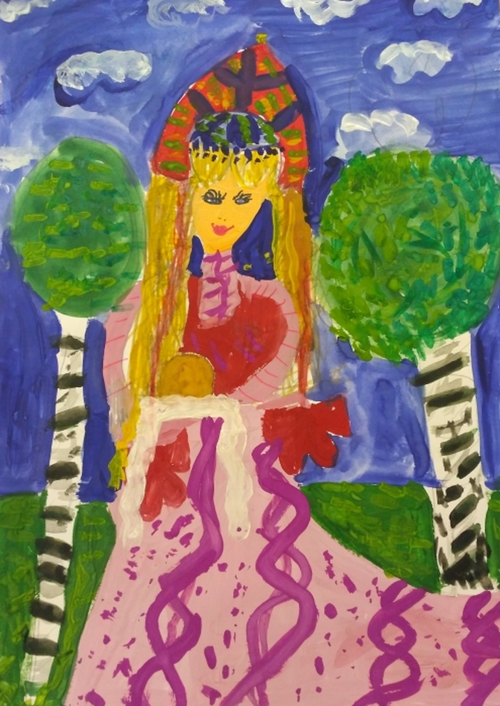 Рисунок русская красавица 4 класс, класс