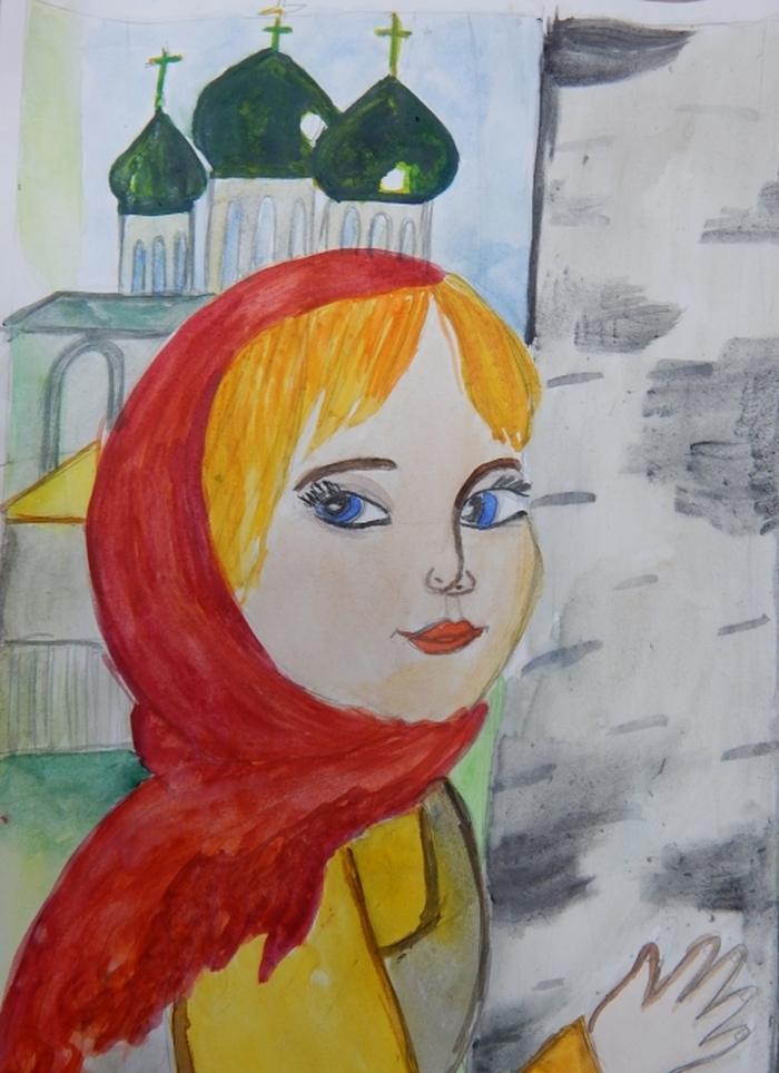 Открытки, рисунок русская красавица 4 класс