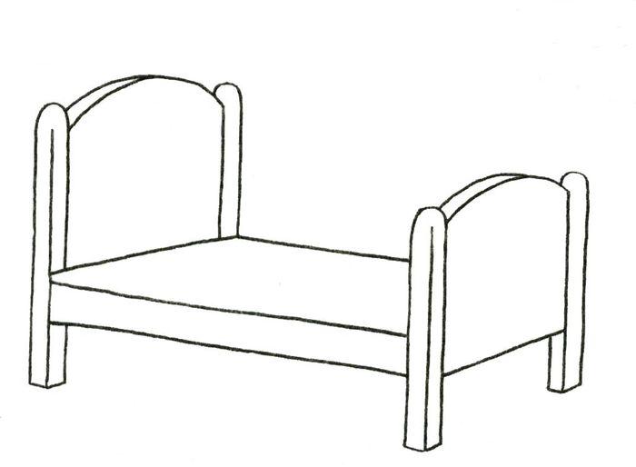 особенность утолщение раскраска кроватка для куклы ширмы свадьбу
