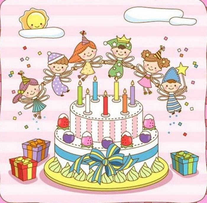 Английском днем, рисунки открытки с днем рождения детские