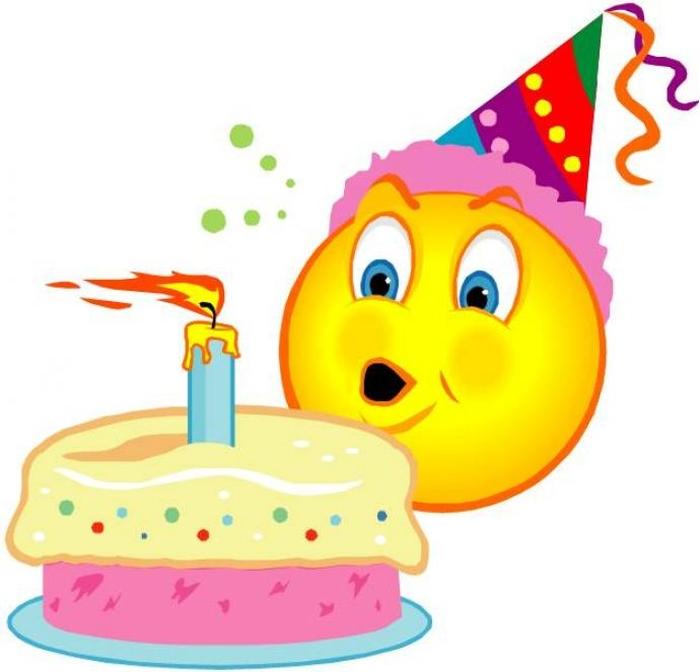 Поздравлением летием, картинка смайлик с днем рождения