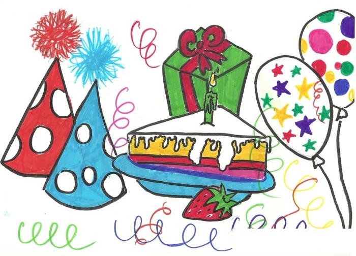 Рисунки детей открыток с юбилеем, юбилей открытки