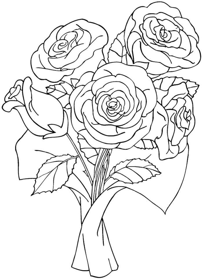 Букет цветов рисунок карандашами и красками для детей