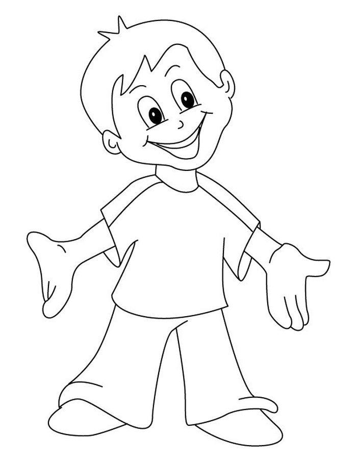 Рисунок карандашом смешной мальчик, фоторамка