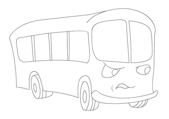 Автобус детская картинка