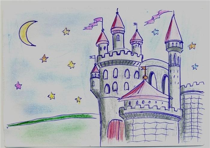 Нарисовать замок карандашом в картинках торо