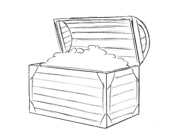 Шкатулка картинки карандашом