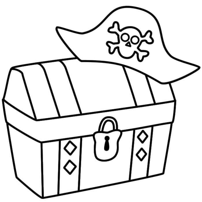 Раскраска шкатулка для детей