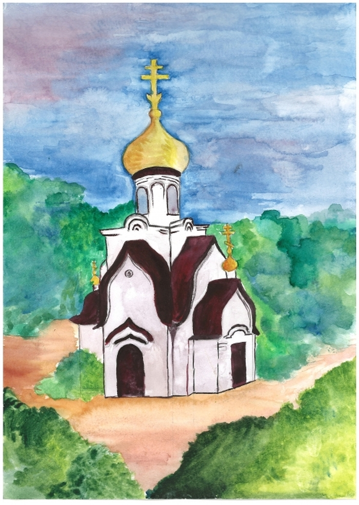 Открытках, картинки соборов для рисования