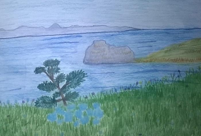 торт рисунки байкала детьми оказавшись малой реке