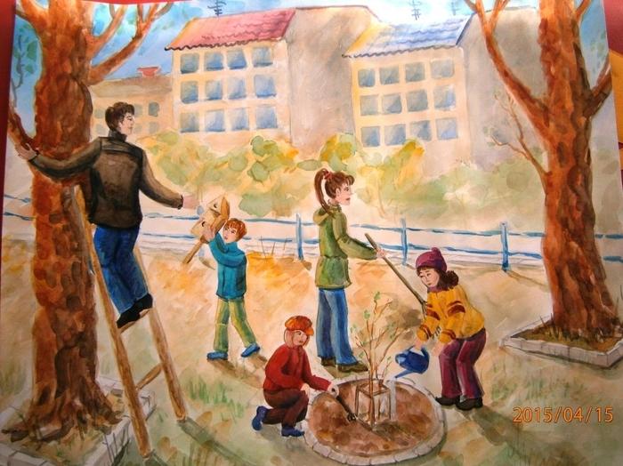 Картинки субботник в детском саду