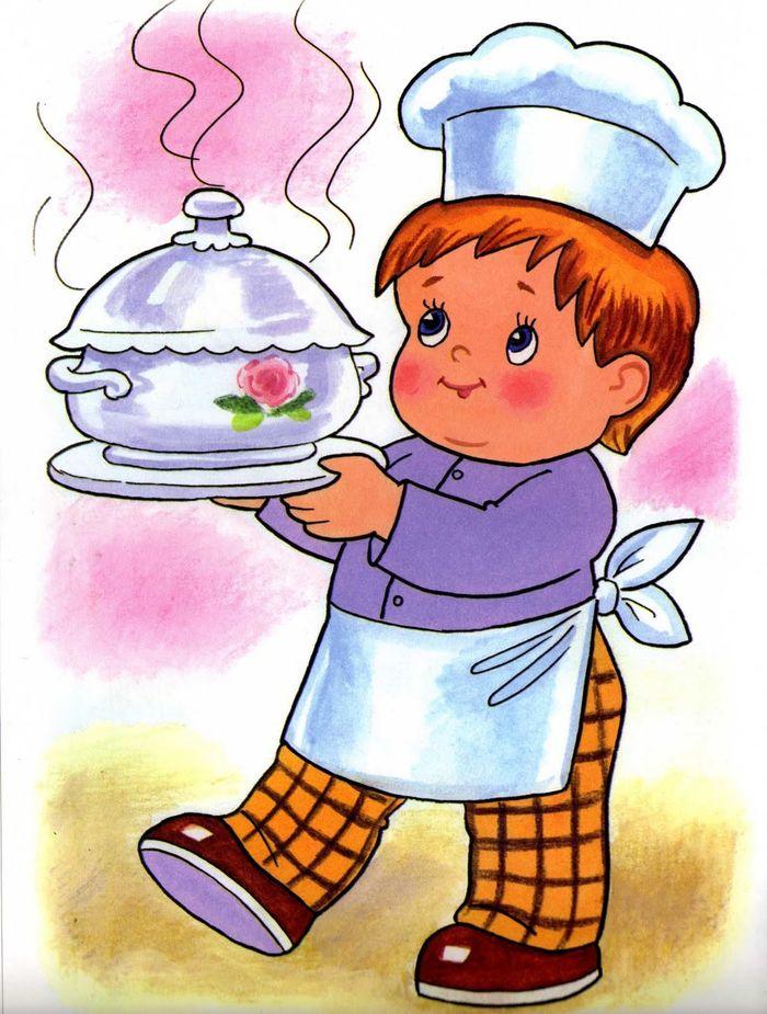 Рисунки профессии повара для детей в детский сад