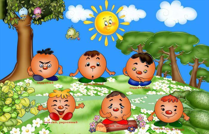 Эмоции детские картинки для уголка настроения в детском саду