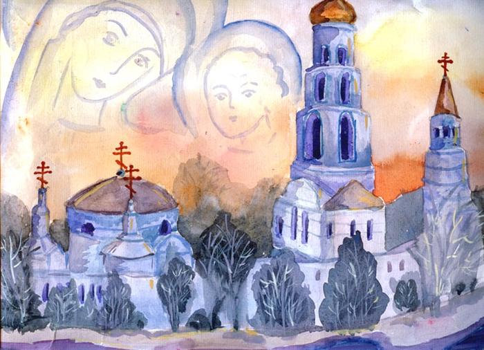 Картинки формата а3 православные, именины открытки