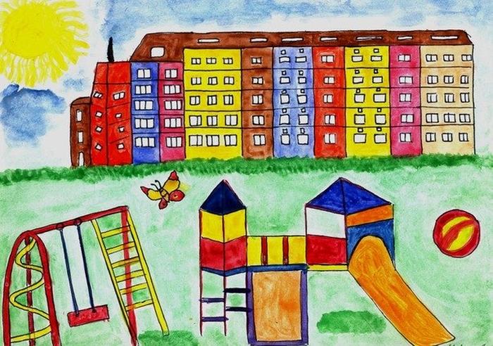 Картинки на тему мой город для детского сада, новый