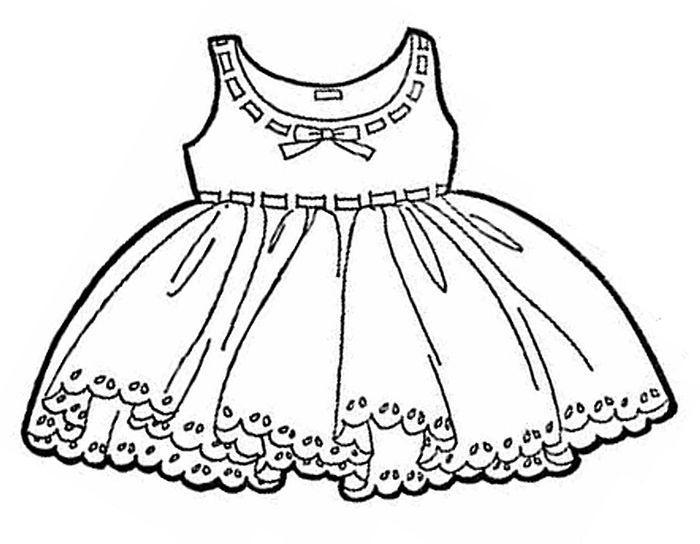Шаблоны детского платья