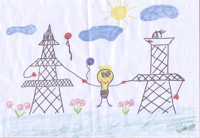 Рисунок ко дню энергетика свет приносит радость, красивые