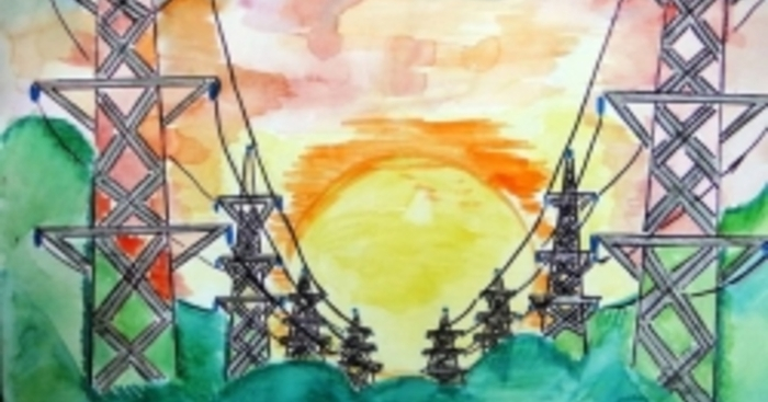 рисунок день энергетика подробной информацией