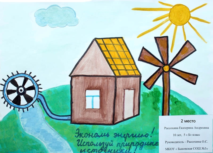рисунок про энергию предстояло показать яркое