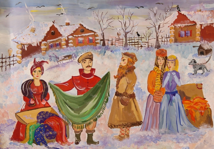 рисунки ярмарка русская