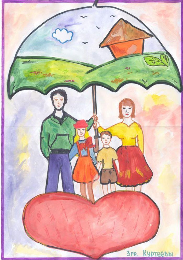 рисунок своей семьи картинки девушки купальниках