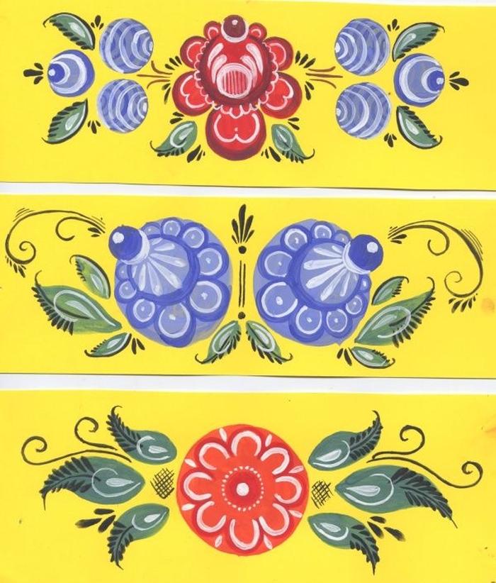Картинки городецкая роспись для сада