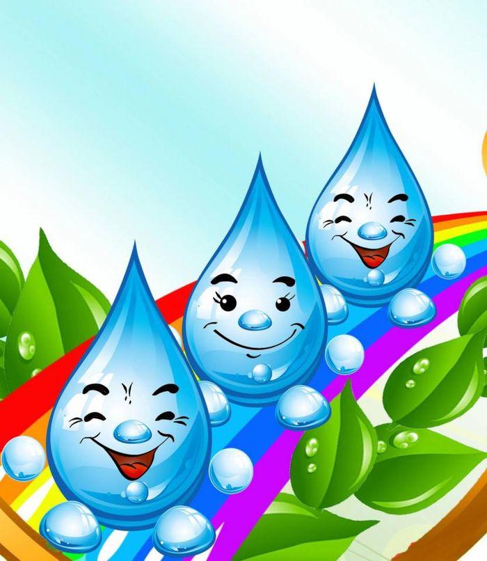 Картинки мультяшная капелька воды для детей