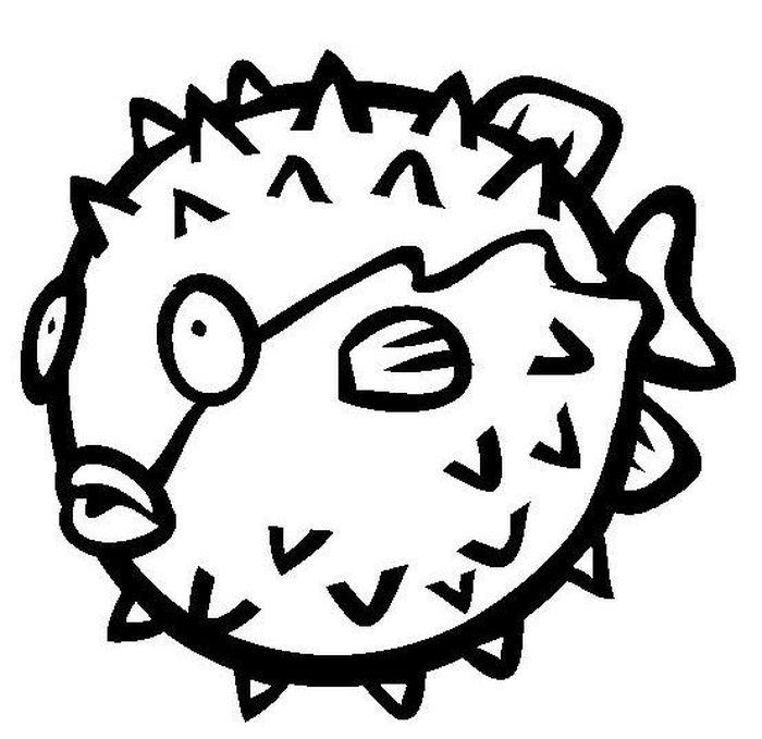 Детские рисунки рыбы ежа. Картинки для срисовки.