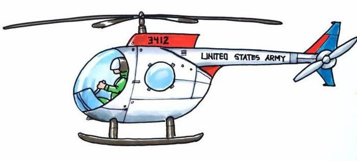 Вертолет в картинках и рисунках для дошкольников.