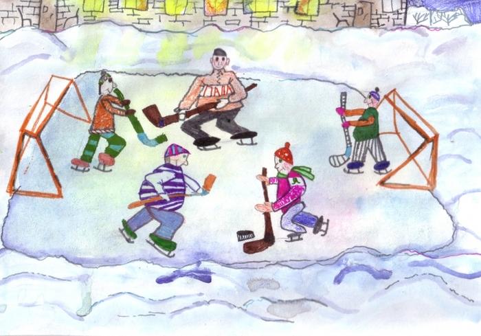 Зимние картинки дети играют во дворе, смешная картинка поздравить