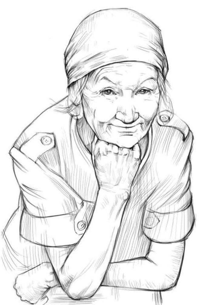 Картинки на день пожилого человека для срисовки