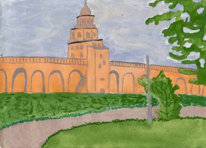 Картинки с кремлем москвы для срисовки
