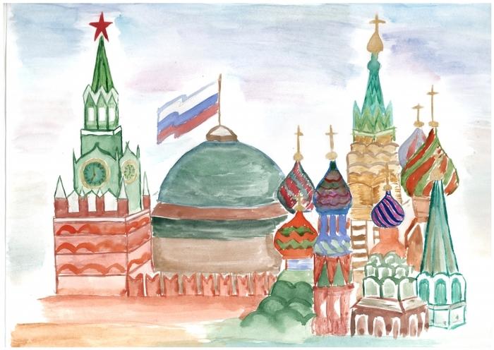 Картинками, картинки с кремлем москвы для срисовки