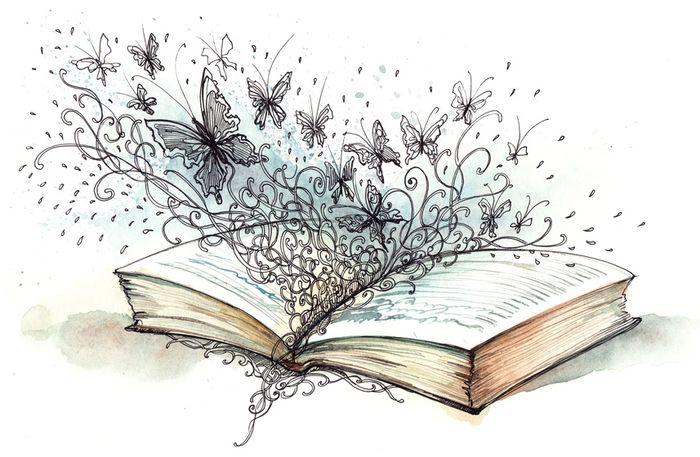 картинки литературы карандашом приходится