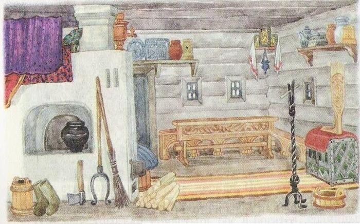 древнерусский дом внутри рисунок часто используется качестве