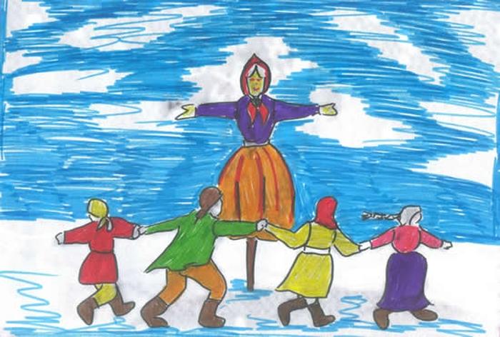 Картинки русские праздники нарисовать, открытка 2015