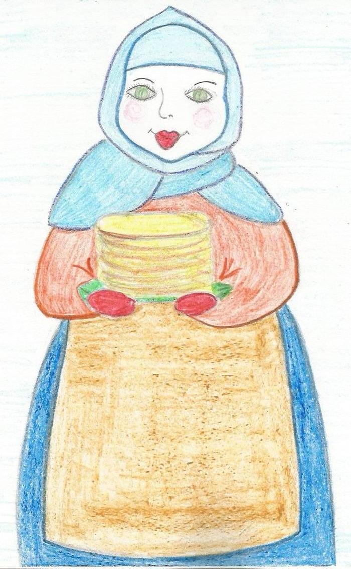 Масленица рисунок