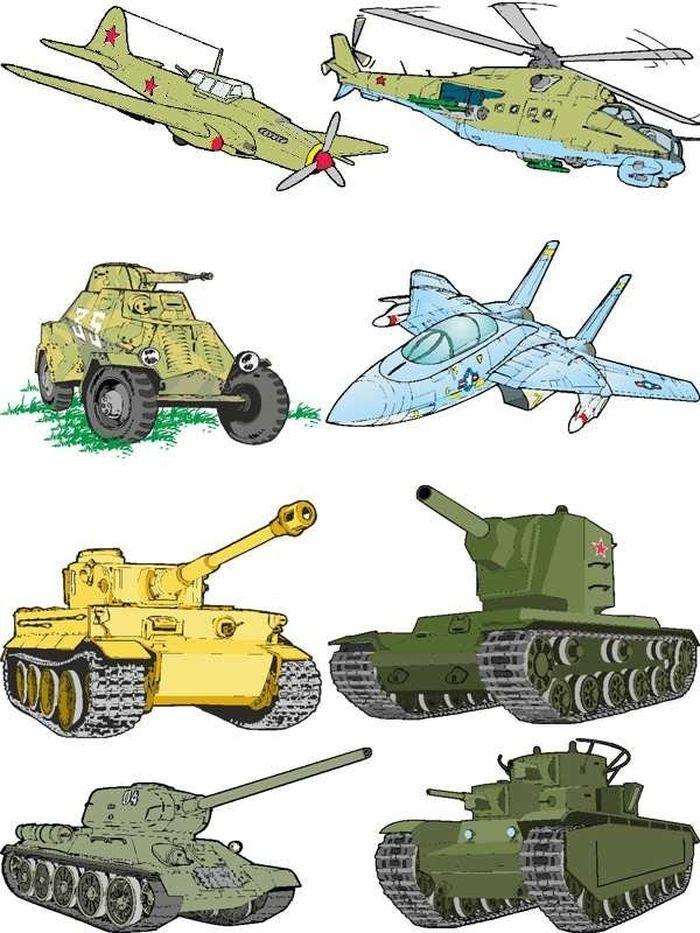 Рисунки военной техники для детей