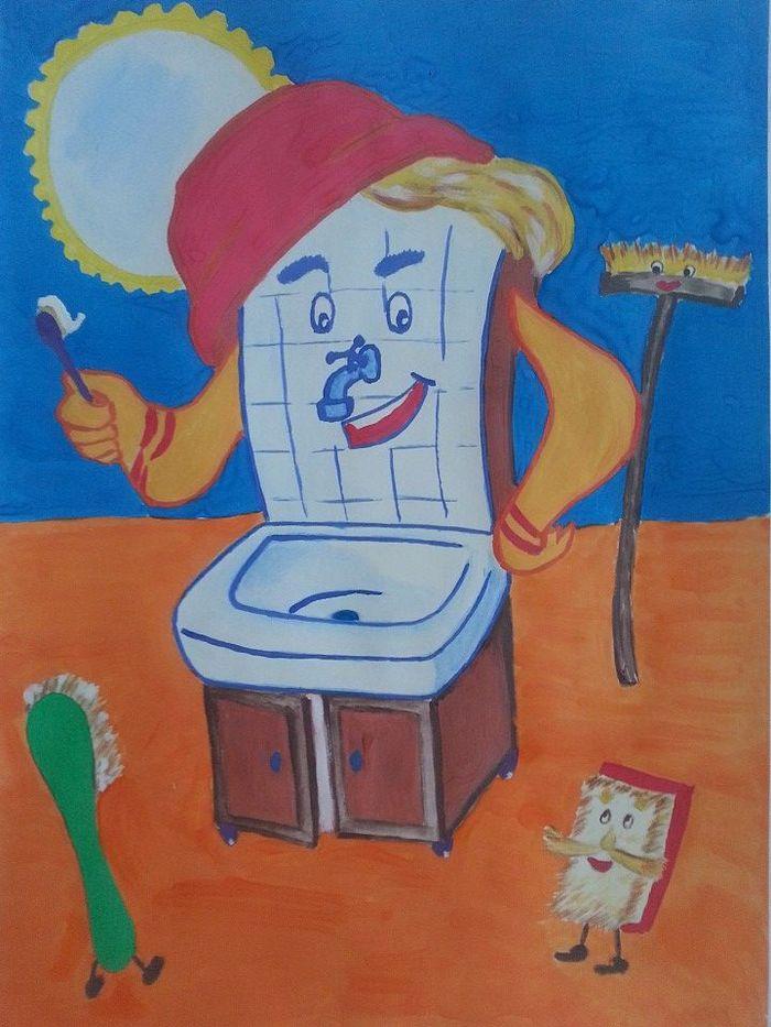 Рисунок по чуковскому мойдодыр